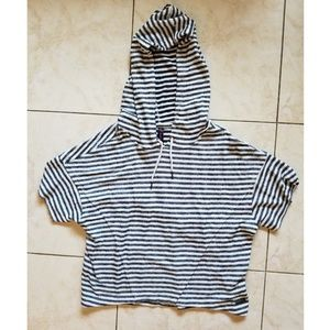 Betsey Johnson Oversized Terry Cloth Hoodie